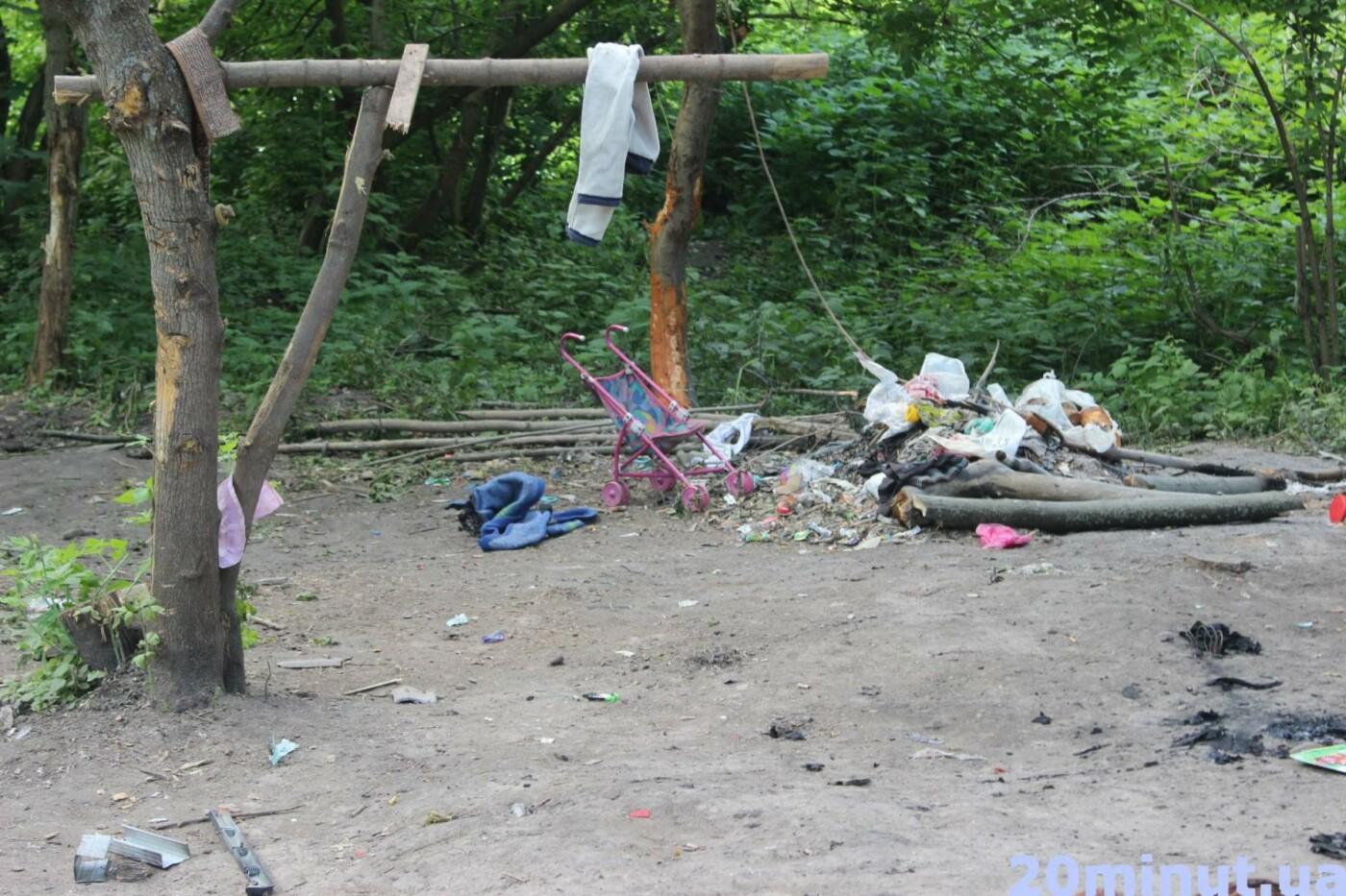 Роми з двох таборів, які жили в лісі неподалік Тернополя, поїхали у невідомому напрямку (ФОТО), фото-7
