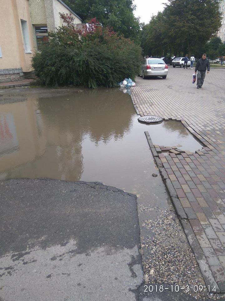 У Тернополі бруківка не витримує осінньої негоди (ФОТОФАКТ), фото-4