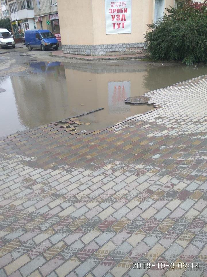 У Тернополі бруківка не витримує осінньої негоди (ФОТОФАКТ), фото-3