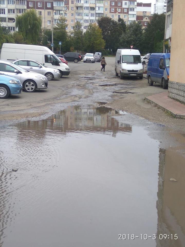 У Тернополі бруківка не витримує осінньої негоди (ФОТОФАКТ), фото-1