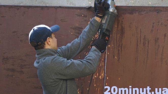 Шарпанина, поліція і сльозогінний газ: в Тернополі конфлікт на Енергетичній (фото, відео), фото-2