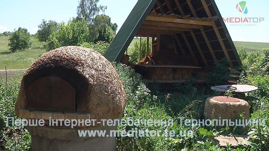 На Тернопільщині чоловік живе у круглій хаті з дерева і соломи вже вісім років (ВІДЕО), фото-4