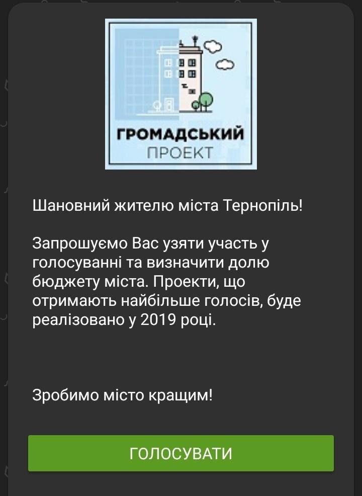 Тернополяни мають можливість проголосувати за проекти Громадського бюджету в дистанційних каналах ПриватБанку, фото-1