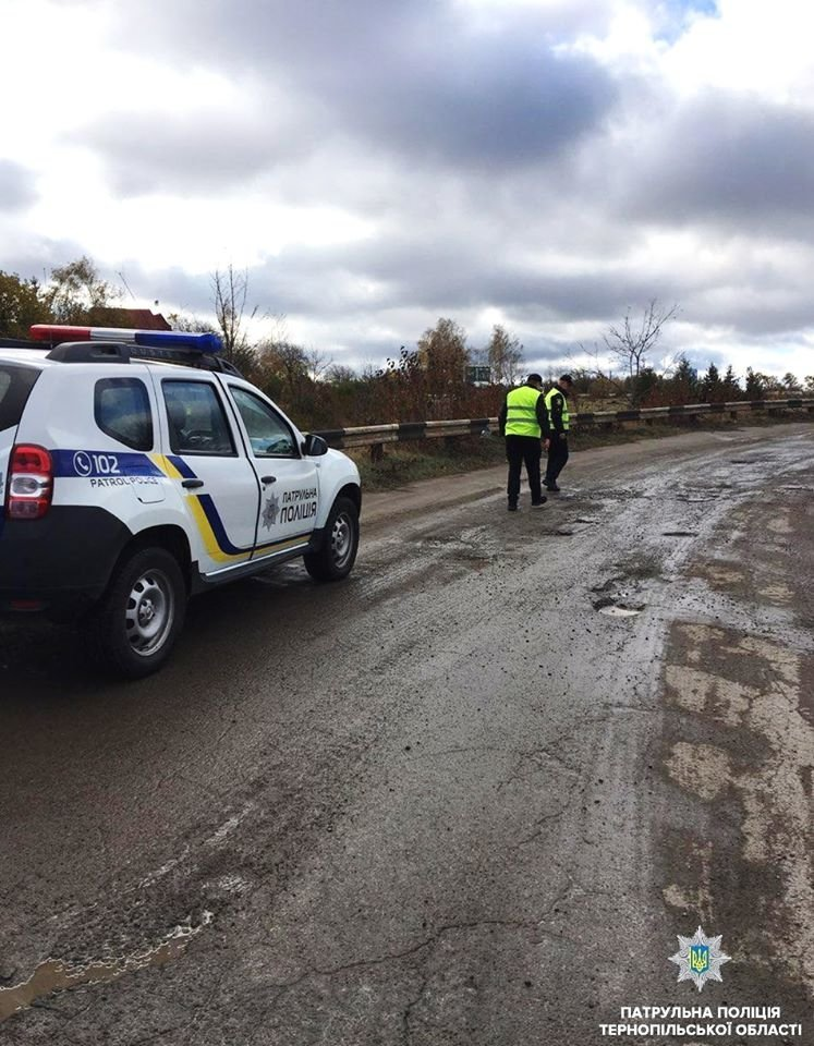 На Тернопільщині поліція міряє глибину ям на дорогах: кажуть, що так готуються до зими (фото), фото-3