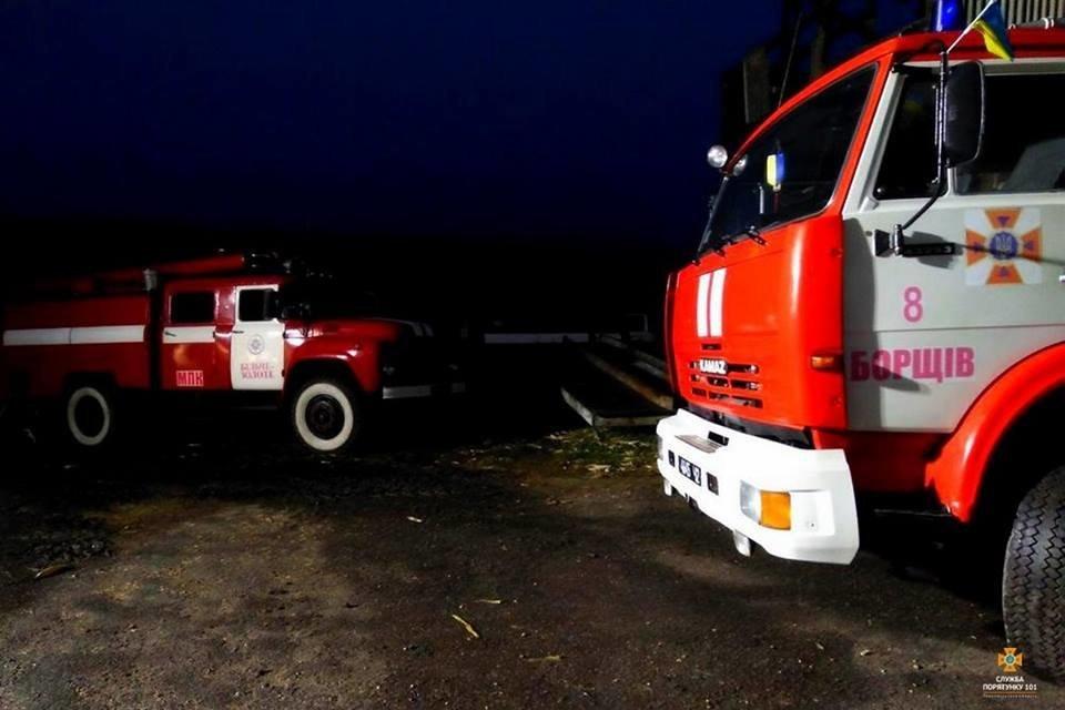 На Тернопільщині від ночі не можуть погасити масштабну пожежу (фото), фото-1