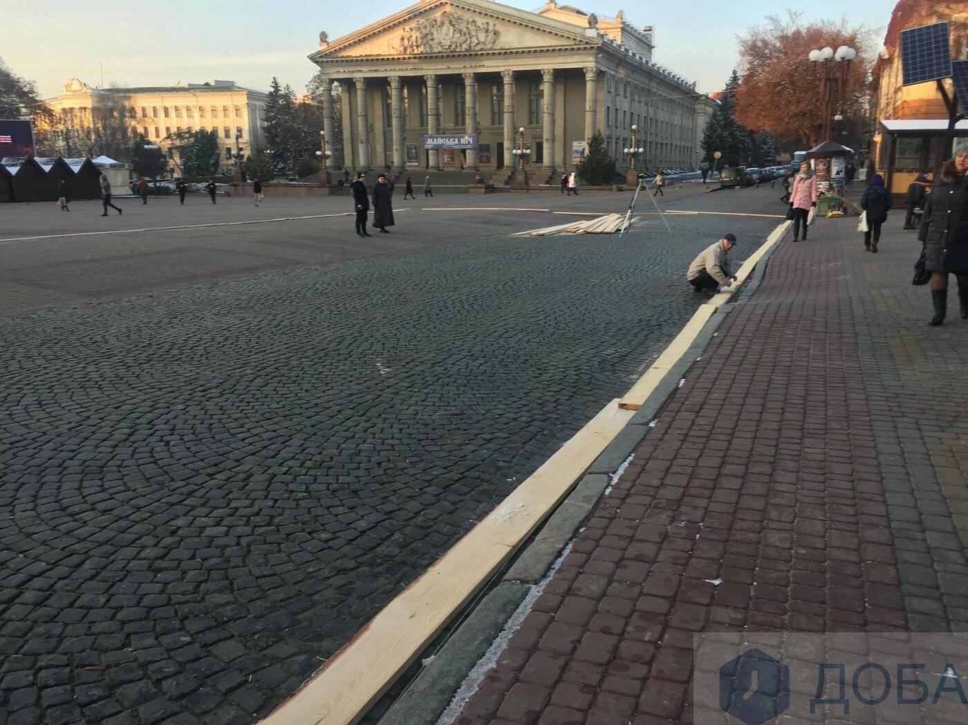У Тернополі розпочали підготовувати місце для ковзанки (фото), фото-2