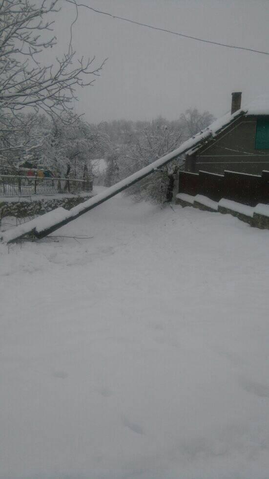 У селі  на Тернопільщині попадали електростовпи, люди від суботи сидять у темряві (ФОТО), фото-1