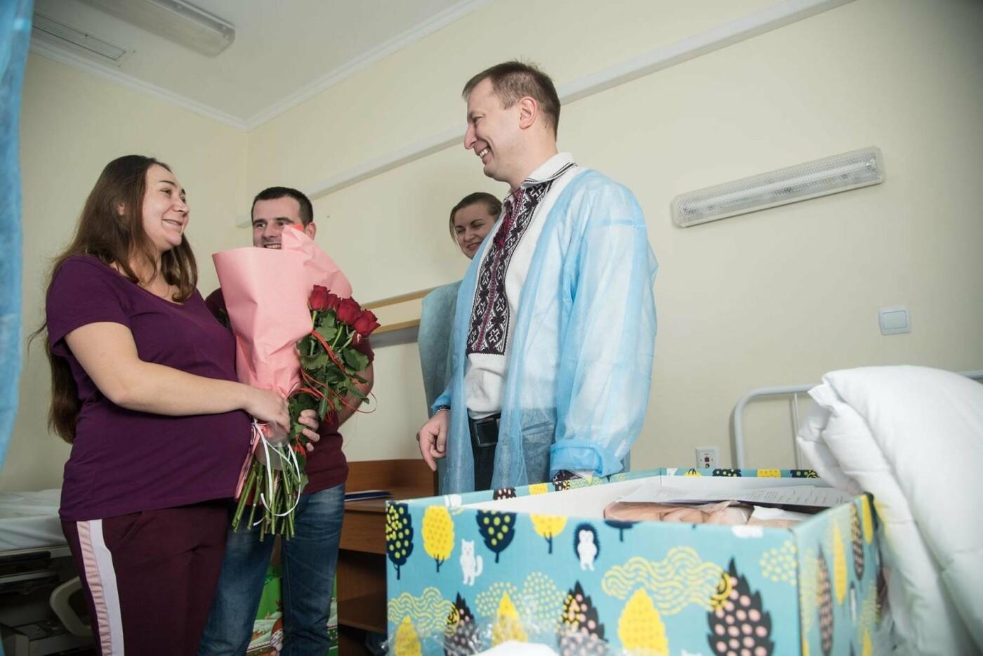 Степан Барна відвідав новонароджених у перинатальному центрі «Мати і дитина» (Фото), фото-2