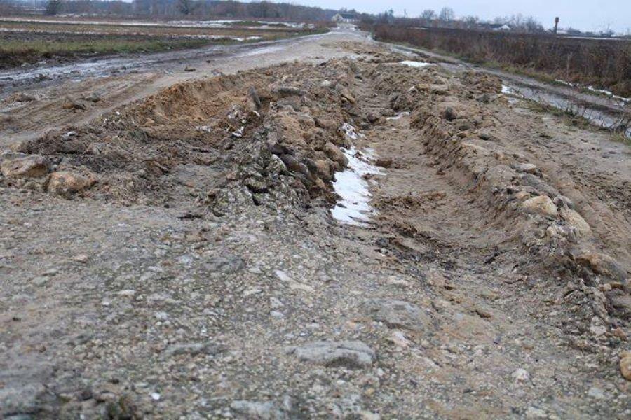 """""""Усім селом відкопували автобус"""", – на Тернопільщині разом зі снігом """"зійшла"""" дорога (ФОТО), фото-1"""