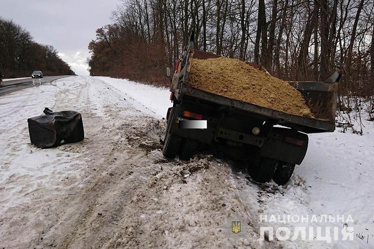 ДТП на Тернопільщині: КамАЗ розчавив іномарку (ФОТО), фото-2