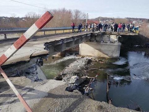"""На Тернопільщині на автодорозі """"Р-24"""" обвалився міст (ФОТО), фото-1"""