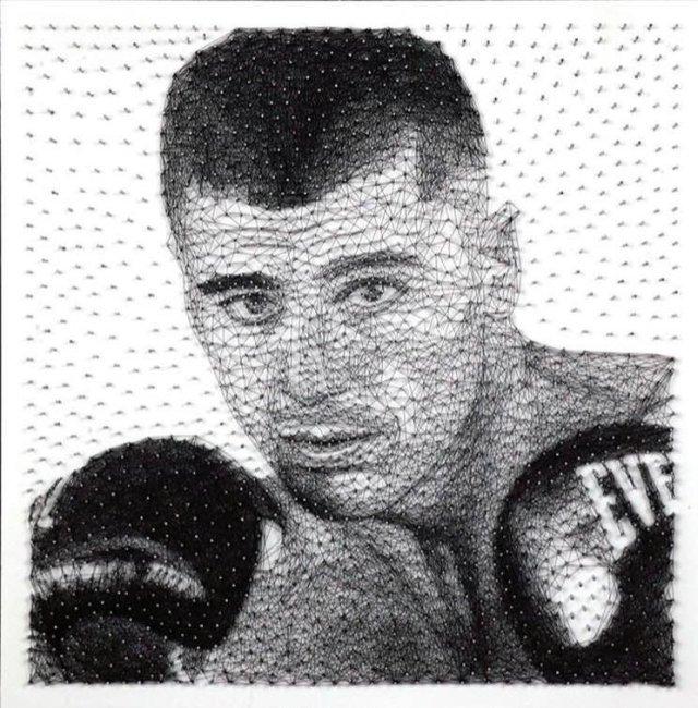 Тернополянин створив унікальний портрет для боксера Олександра Гвоздика (Відео), фото-1
