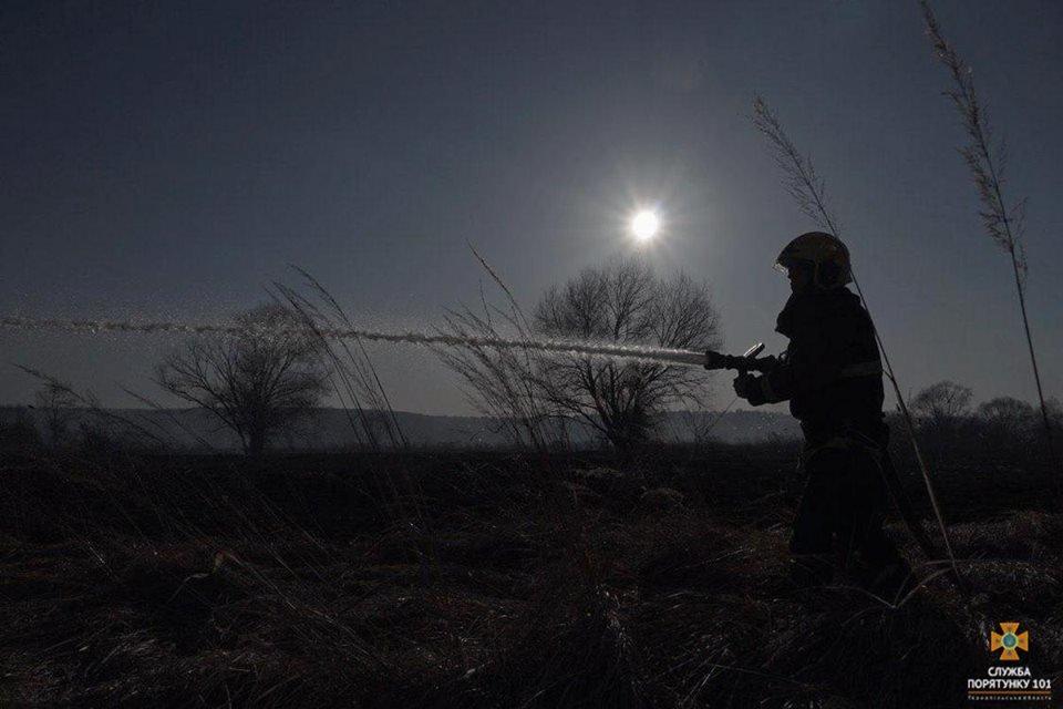 Вогонь був на кілька метрів у висоту: за Тернопільським ставом невідомі випалили 2 га трави (Фото), фото-8