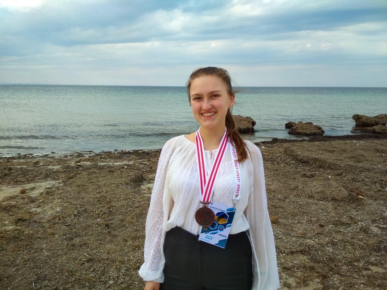 В Тунісі тернопільська школярка за свою наукову роботу отримала бронзову медаль (ФОТО), фото-2