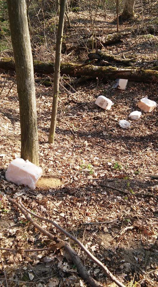 """""""Це гріх і неподобство"""": біля тернопільського меморіалу воїнам УПА невідомі порозкидали шматки сала (ФОТО), фото-3"""