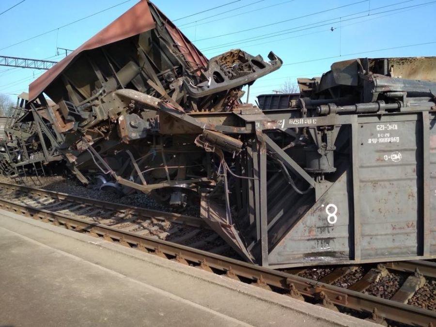 На Тернопільщині зійшли з рейсів п'ять вагонів вантажного потяга (ФОТО), фото-1