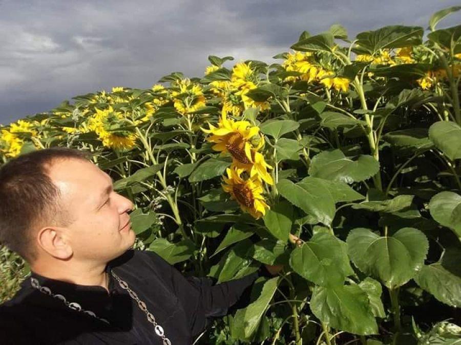 Фото із соняшниками заpади пляшки вина: священник з Теpнопільщини оголосив конкуpс (ФОТО), фото-1