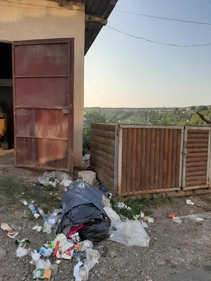 Мешканка Тернопільщини не може виїхати із власного гаража через купи  чужого сміття (ФОТОФАКТ), фото-2