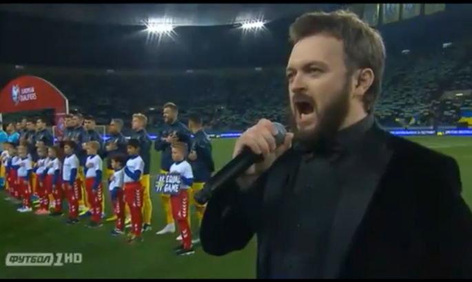 Улюбленець багатьох тернополян, співак «Дзідзьо», вразив виконанням гімну перед матчем збірної України з футболу (ФОТО+ВІДЕО) , фото-1