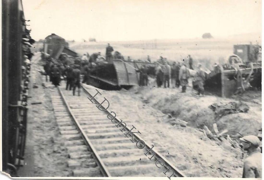 Оприлюднено унікальний знімок підриву під час війни на Тернопільщині німецького потяга (ФОТОФАКТ), фото-1