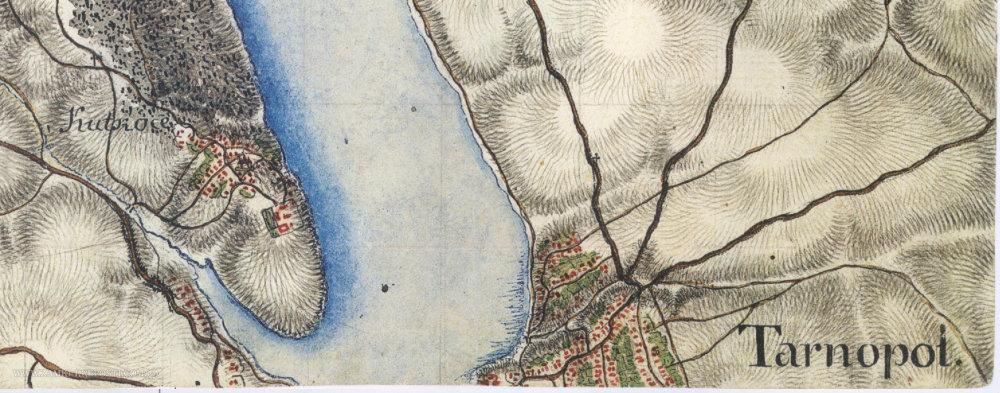 На відомій карті Фрідріха фон Міга показали Тернопіль у 18 столітті (ФОТО), фото-2