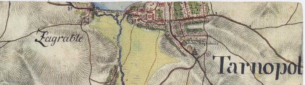 На відомій карті Фрідріха фон Міга показали Тернопіль у 18 столітті (ФОТО), фото-1