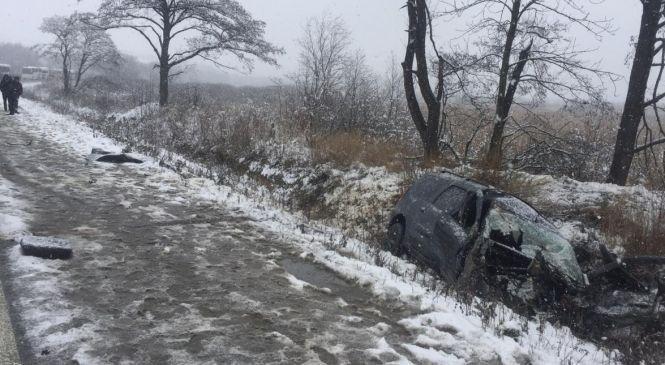 У ДТП під Тернополем загинула жінка, вилетівши крізь вікно автомобіля під колеса іншого авто (ФОТО), фото-1