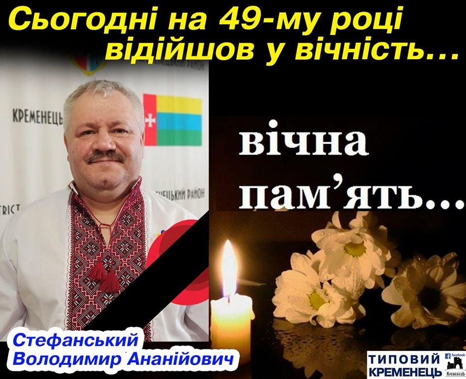 Помер голова Кременецької районної ради, який хворів на коронавірус (ФОТО), фото-1