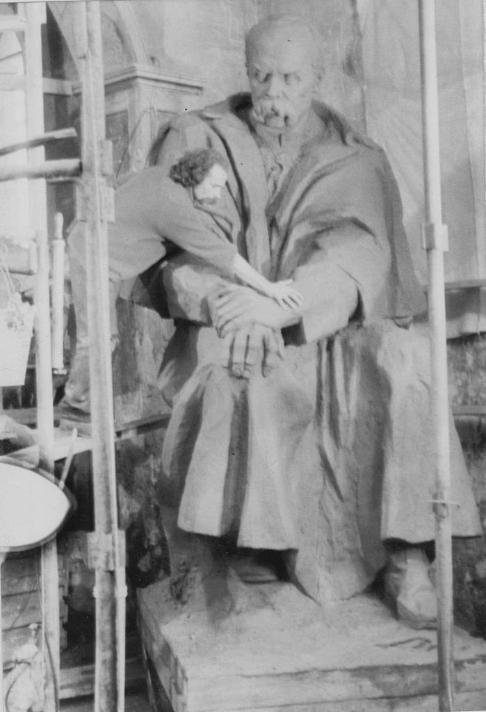 Оприлюднено чорно-білі світлини встановлення пам'ятника Тарасу Шевченку у Тернополі (ФОТОРЕПОРТАЖ), фото-2