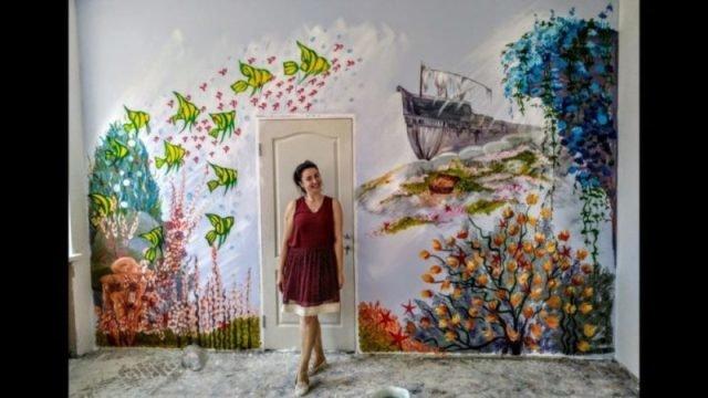 Художниця з Тернопільщини розписала вдома всі стіни (ВІДЕО), фото-8