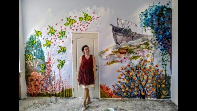 Художниця з Тернопільщини розписала вдома всі стіни (ВІДЕО), фото-3