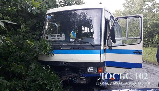 На Тернопіллі лоб у лоб зіткнулись  рейсовий автобус та автівка (ФОТО), фото-2
