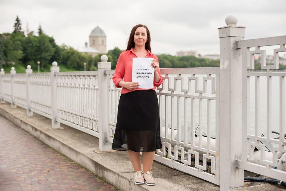 У Тернополі журналісти вийшли на акцію захисту місцевого телебачення (ФОТО), фото-3