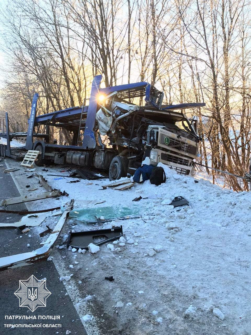 Вражаюча ДТП на Тернопільщині: в аварії постраждали відразу дві вантажівки (ФОТО), фото-1