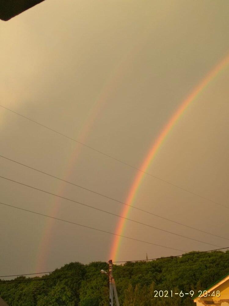 Добрий знак: тернополяни діляться у соцмережах світлинами неймовірної райдуги (ФОТО), фото-1